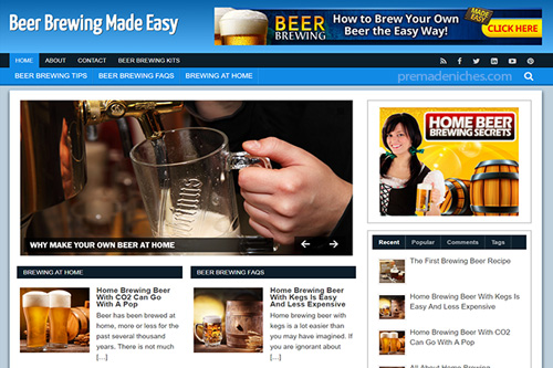 beer brewing plr blog