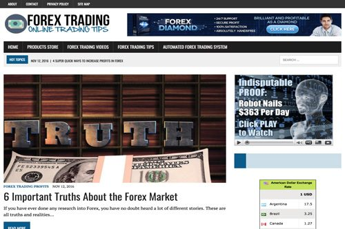 Forex Trading Plr Blog Website