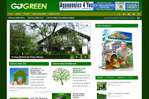 green living plr blog