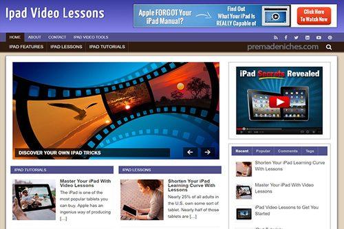 ipad video lessons plr blog