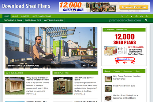 shed plans plr blog