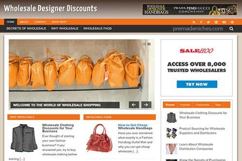 wholesale designer discounts plr blog