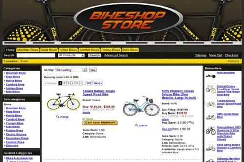 amazon affiliate bikes store