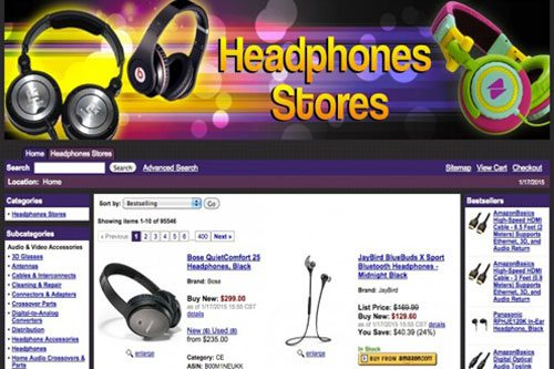amazon affiliate headphones store